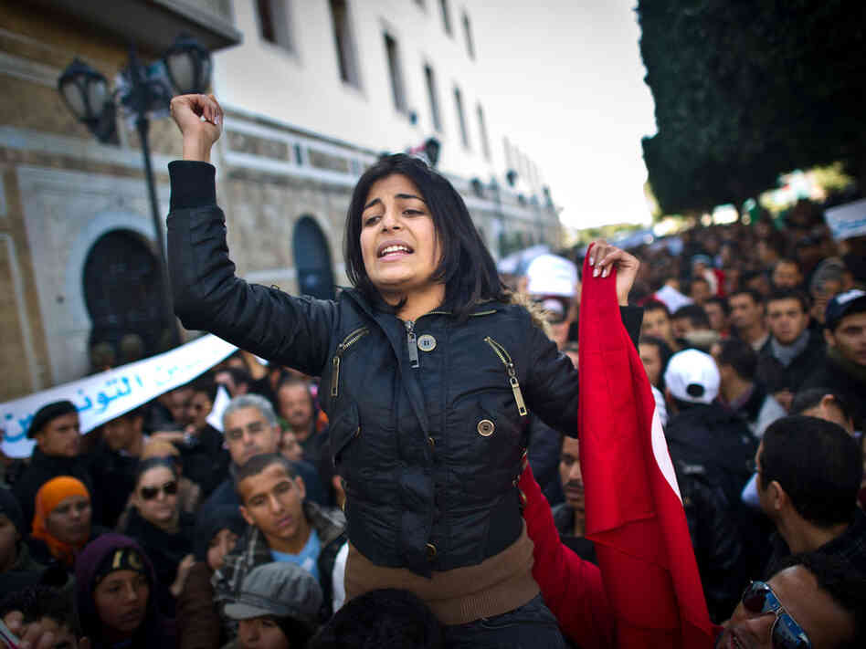 In Tunisia, Women Play Equal Role In Revolution : NPR