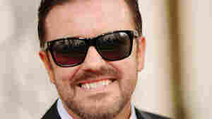 Ricky Gervais at the Golden Globe Awards on January 16.