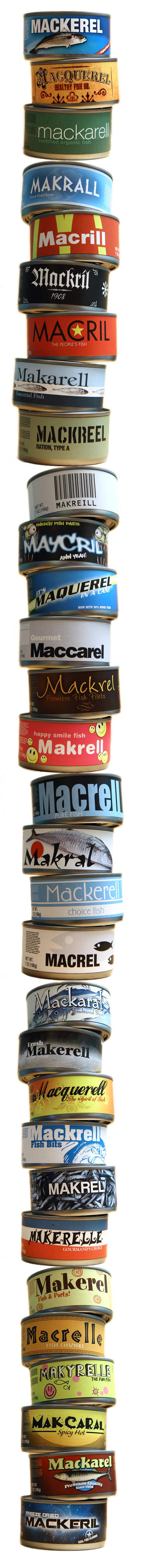 stack of mackerel cans