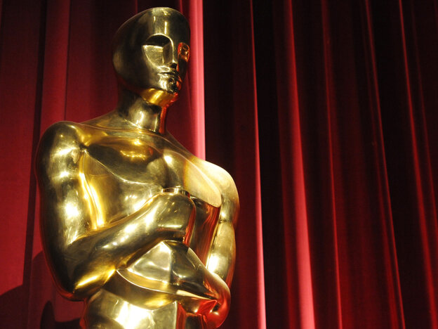 An Oscars statue is seen before the start of the 83rd Annual Academy Awards Nominations Announcement in Beverly Hills, Calif. The 83rd Annual Academy Awards will be held in Hollywood on February 27.