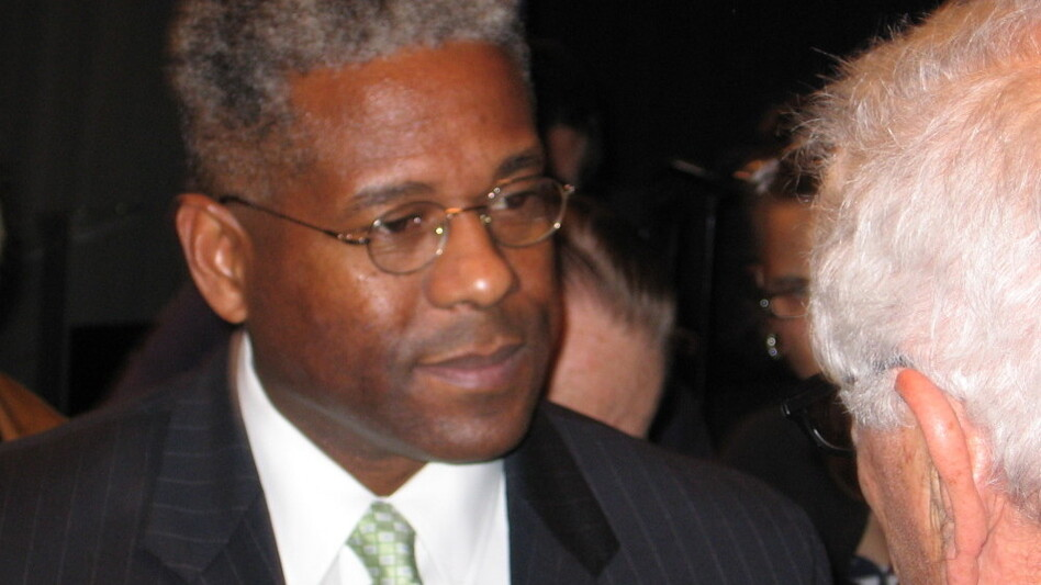 Rep. Allen West (R-FL) speaks to constituents at a town meeting in Deerfield Beach,  Fla., on Thursday.