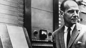Milton Babbitt, a composer and director of Columbia Princeton Electronic Music Centre in New York.