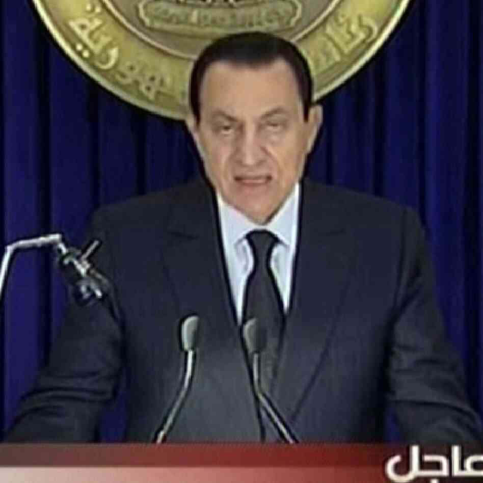 Egyptian President Hosni Mubarak as addressed his nation Friday (Jan. 28, 2011).