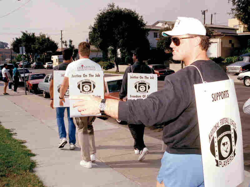 The last NFL work stoppage came in 1987, when Los Angeles Raiders defensive end Howie Long walked the picket line outside the Raiders' headquarters.
