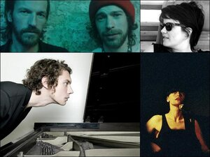 From the top left, clockwise: Rocketnumbernine, Steffi, Factory Floor and Francesco Tristano.