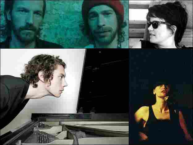 From the top left, clockwise: Rocketnumbernine, Steffi, Factory Floor and Francesco Tristano.