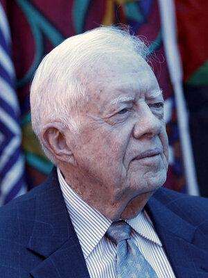 Former US President Jimmy Carter, in east Jerusalem in October 2010.