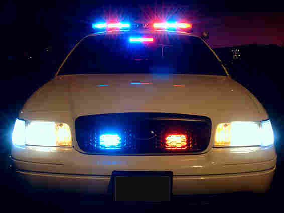 Police car lights.