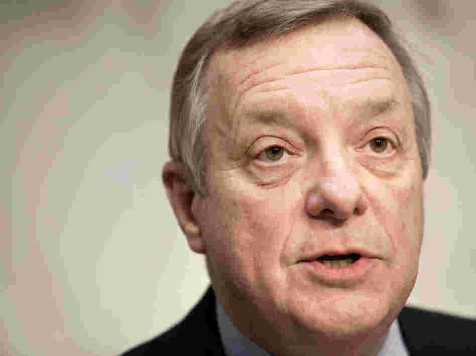 Senate Majority Whip Sen. Richard Durbin (D-IL) speaks during a Judiciary Committee hearing Wednesday to discuss the constitutionality of the new health law.