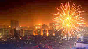 Fireworks explode in the air to celebrate Chinese New Year on February 3, 2011 in Beijing, China.