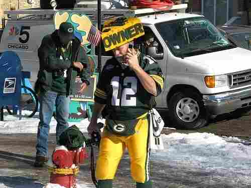 A diehard Green Bay Packers fan - or Cheesehead - gets ready to sport his green and gold at the NFC Conference Championship game against the Chicago Bears on January 23, 2011. The Packers won the game 21-14 to advance to Super Bowl XLV.