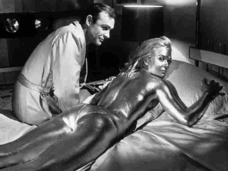 Sean Connery and Shirley Eaton in a scene from the James Bond film Goldfinger.