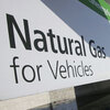 In Dallas, compressed natural gas (CNG) cabs get to cut in front of regular gas cabs at the Love Field Airport pick-up line.