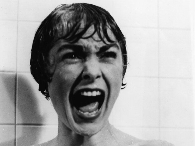 American actor Janet Leigh screams in the shower in the famous scene from the 1960 film 'Psycho,' directed by Alfred Hitchcock. (Photo by Paramount Pictures/Courtesy of Getty Images)