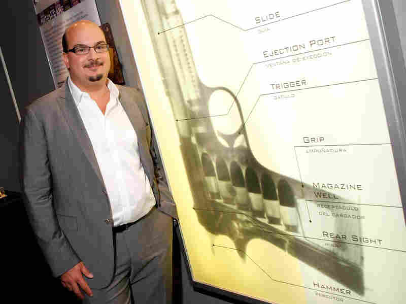 Anthony Zuiker, creator and executive producer of the CSI television shows, appears at a CSI exhibit in Las Vegas.