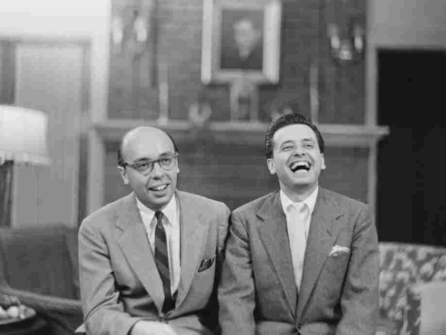 Ahmet (left) and Nesuhi Ertegun, photographed here in the 1940s. The brothers often brought jazz musicians back to their father's mansion — the Turkish ambassador's residence in Washington, D.C. — for jam sessions.