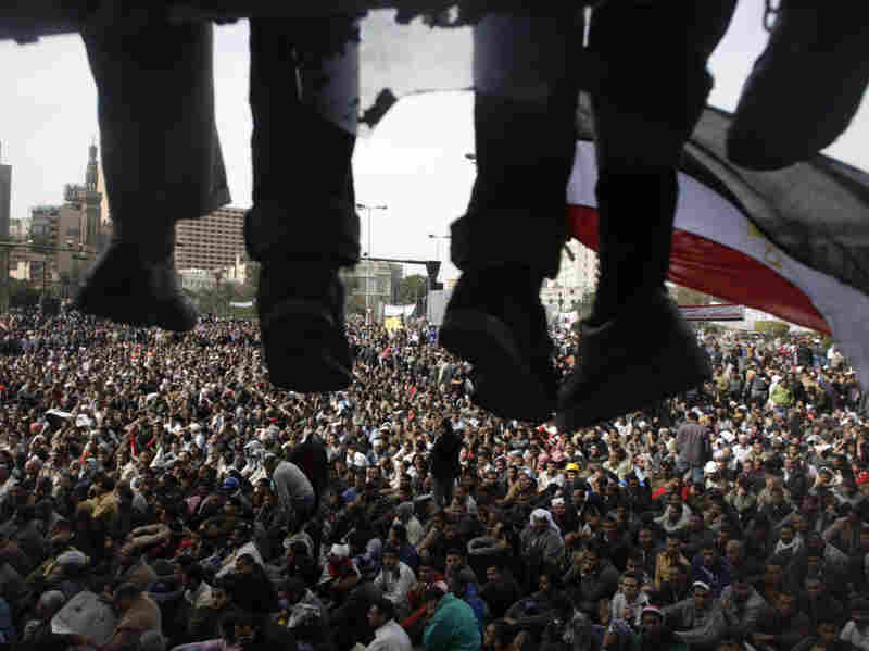 Anti-government demonstrators gather Friday in Tahrir Square in Cairo.