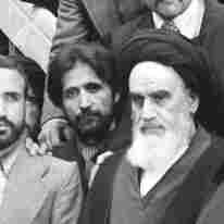 Ayatollah Ruhollah Khomeini is surrounded by followers after his arrival at Mehrabad Airport on Feb. 1, 1979, after 14 years of exile.