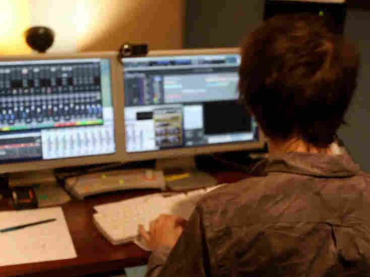 Ryan Lott of Son Lux in the studio.