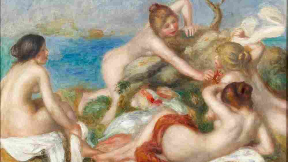 The Carnegie Museum of Art in Pittsburgh has put up Pierre Auguste Renoir's Bathers with  Crab (c. 1890-1899) on a Steelers victory in Super Bowl XLV.