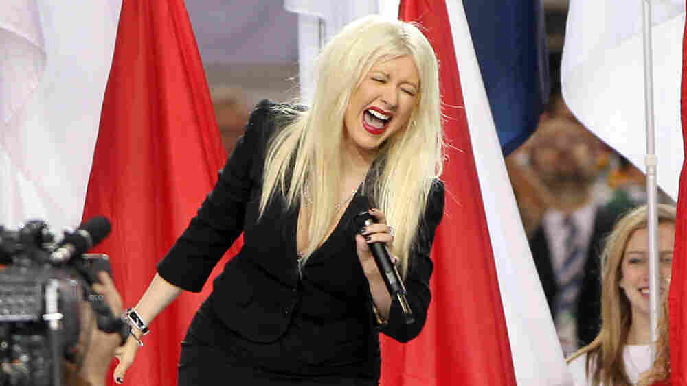 Unfortunately, Christina Aguilera, we feel the same way this photo suggests that you do about your performance of the national anthem at Sunday night's Super Bowl.