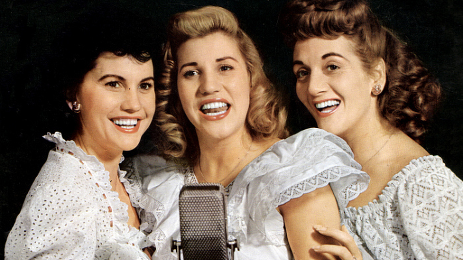 The Andrews Sisters (from left, Maxene, Patty and LaVerne) in the 1940s. Patty was the star of the sibling act. (Getty Images)