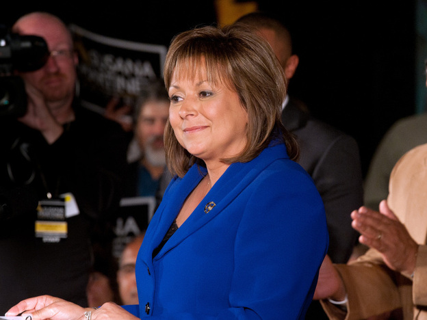 New Mexico Republican Gov. Susana Martinez, seen here on election night, won on a platform calling for law and order, smaller government and  deregulation.