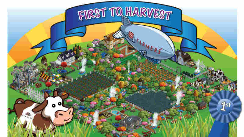 Farmers Insurance Group ran an advertisement in FarmVille that appeared on an airship. Five million users downloaded the ad, which gave them a brief respite from farming.