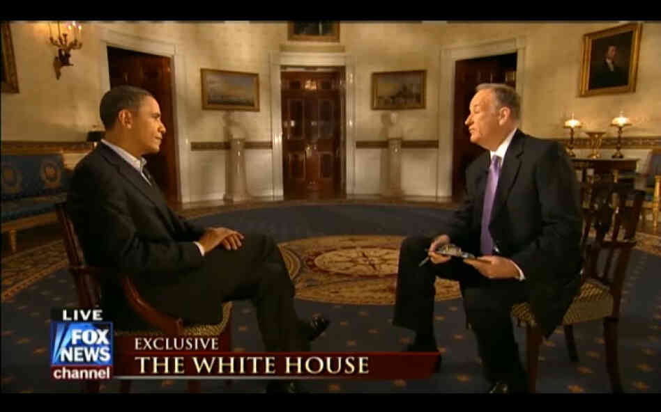 Screenshot of President Obama and Fox News Channel's Bill O'Reilly interview, Feb. 6, 2011.