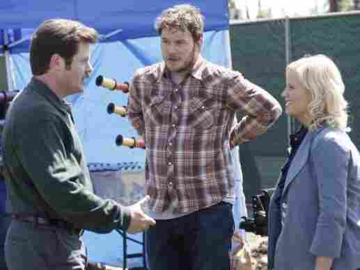 Nick Offerman as Ron Swanson, Chris Pratt as Andy Dwyer and Amy Poehler as Leslie Knope are three of my favorites on Parks & Recreation.
