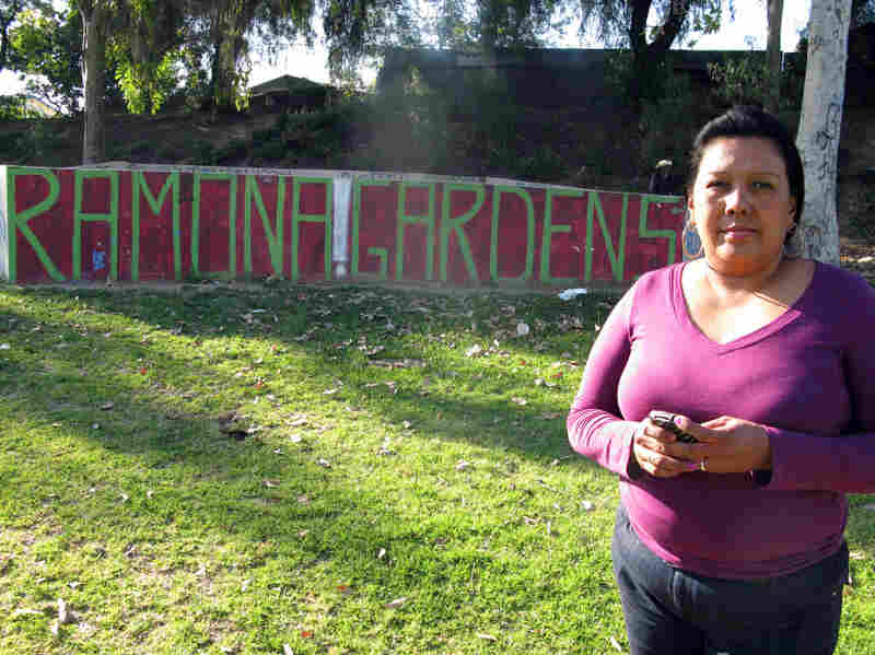 Olga Perez is trying to get more healthful food options in Ramona Gardens, her East L.A. neighborhood.