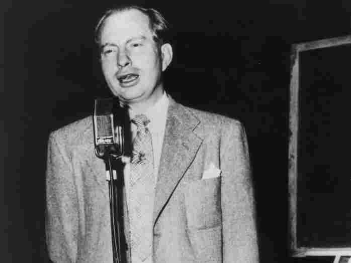 L. Ron Hubbard, founder of Dianetics, addresses the first national meeting of Dianetics auditors in 1951.