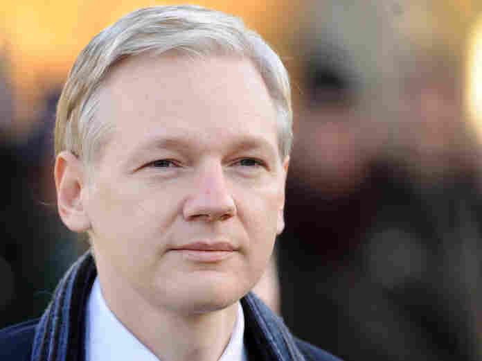 WikiLeaks founder Julian Assange as he arrived at Belmarsh Magistrates' Court, in south-east London, earlier today (Feb. 8, 2011).