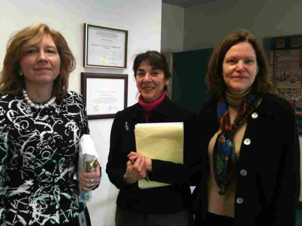 The Bank Regulators' book club: Kymberly Copa,  Ruth  Amberg and Roberta  McInerney.