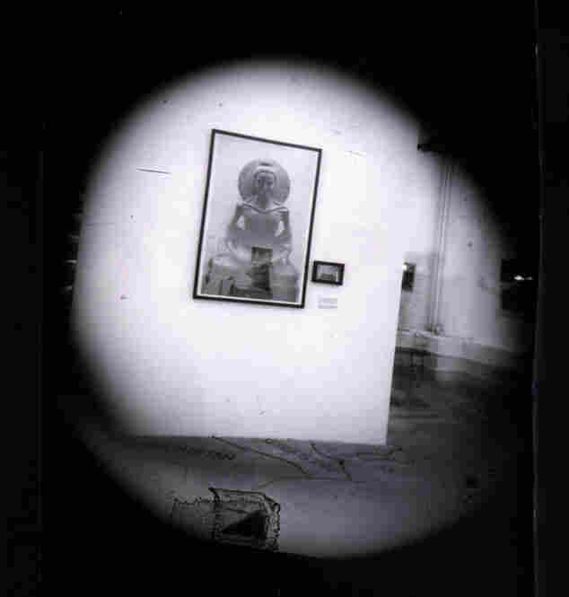 A picture taken with Burk's box camera at the Beijing exhibition.