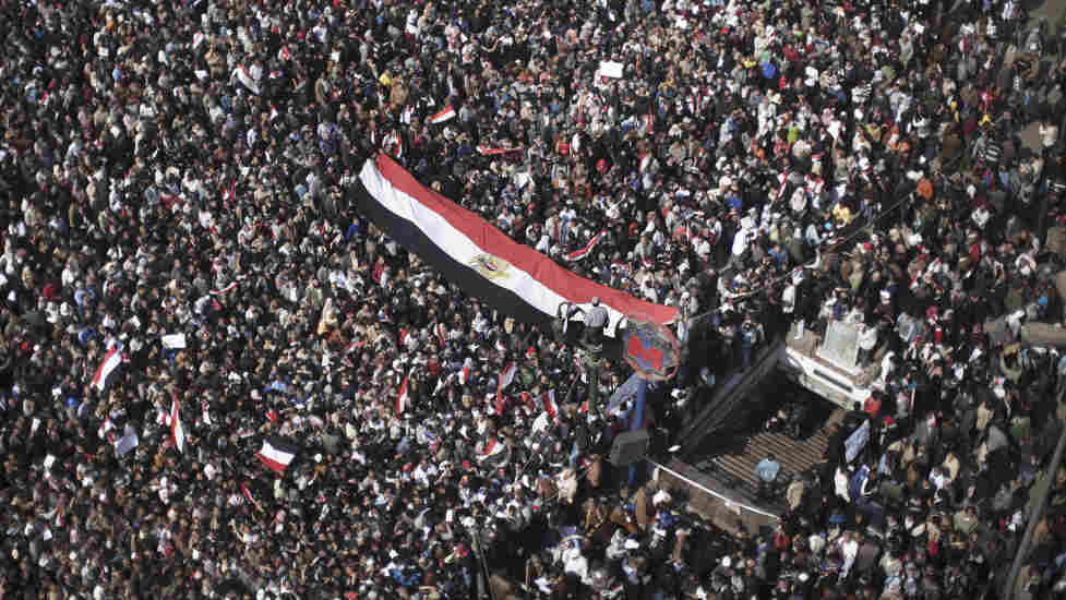 Thousands of anti government supporters gathered again today in Cairo's Tahrir Square.