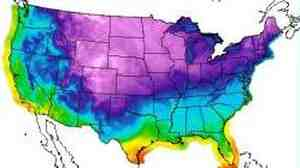 See all that purple and blue? That's where it's going to get really, really cold tonight.