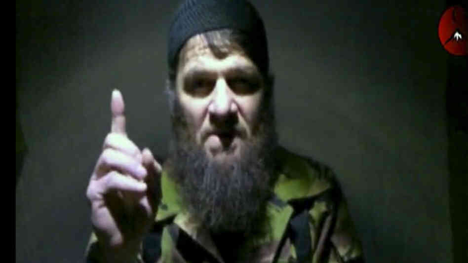 This video image shows insurgent leader Doku Umarov as he claims responsibility for last month's deadly suicide bombing at Russia's largest airport. It was not clear when or where the video was recorded.
