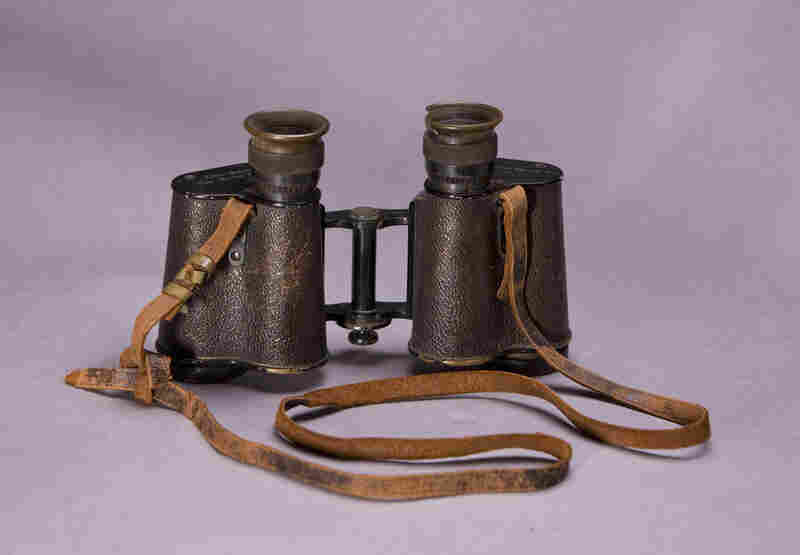 WWI Binoculars Of Peter L. Robinson Sr.Robinson saw action in France from 1918-1919.