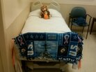Rep. Gabrielle Giffords' hospital room in Houston includes gifts from friends and Navy colleagues of her husband, astronaut/Capt. Mark Kelly.