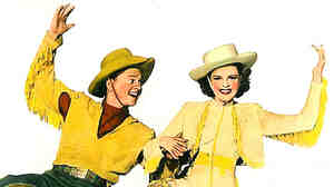 """Judy Garland (right) sang """"I Got Rhythm"""" in the 1943 movie version of the 1930s musical Girl Crazy."""
