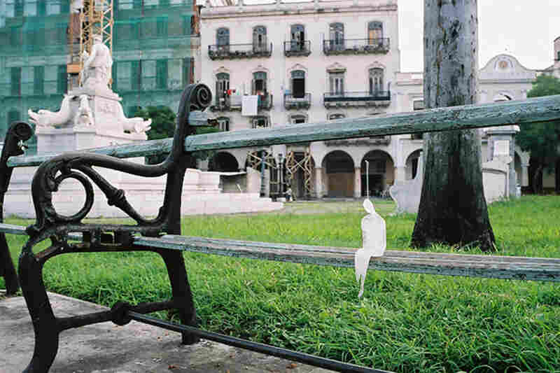 In Havana Vieja, Cuba in 2002. The MInimum Monument project began with only one or two sculptures in each location.