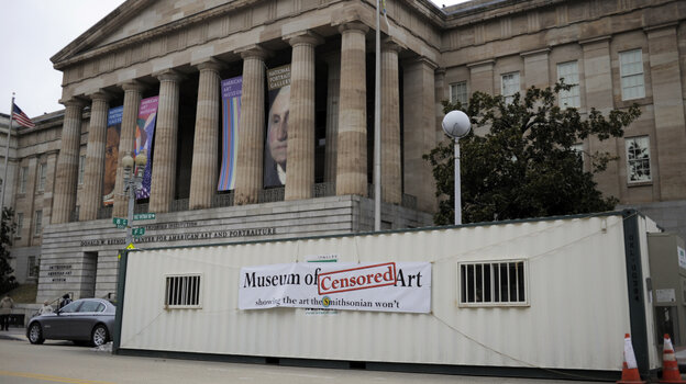 When the National Portrait  Gallery removed a work after pressure from activists and politicians, a project called the Museum of Censored Art set up shop right outside the museum's doors.