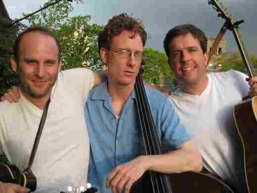 The members of The Lonesome Trio are (from left) Jacob Tilove, Ian Riggs and Ed Helms.