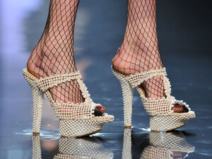 Let's hope these puppies from Jean-Paul Gaultier's Jan. 26 show in Paris don't catch on.
