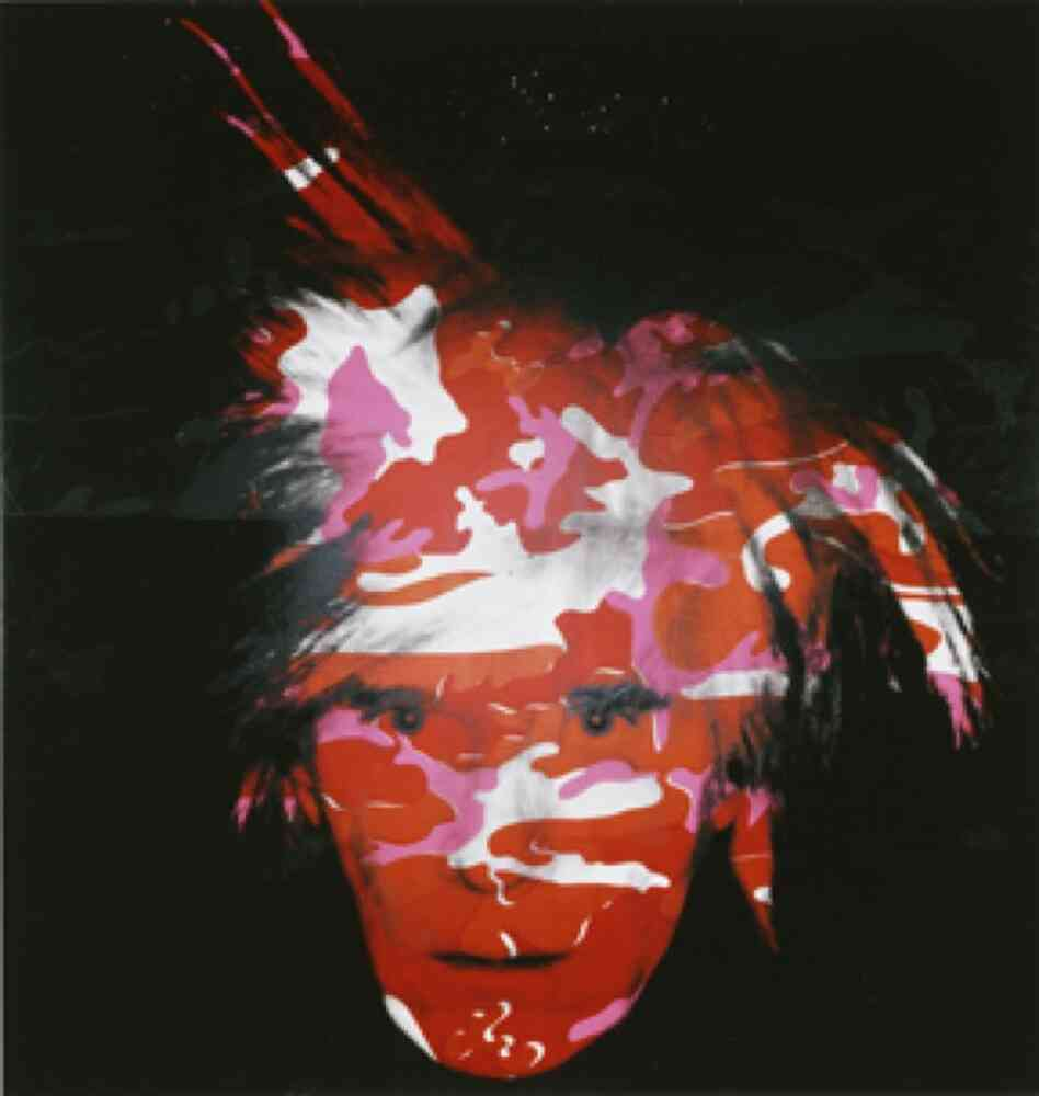 With his series of camouflaged portraits, Warhol continued to reinforce his notoriously evasive persona. Camouflage Self-Portrait, 1986
