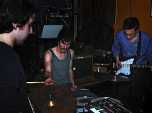 """The hypnotic """"Moon Deluxe"""" finds Andrew Cedermark (right) enshrouding his guitar and voice in swirling, murky reverb."""