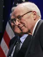 Former Vice President Dick Cheney and former Defense Secretary Donald Rumsfeld at CPAC, Thursday, Feb. 10, 2011.