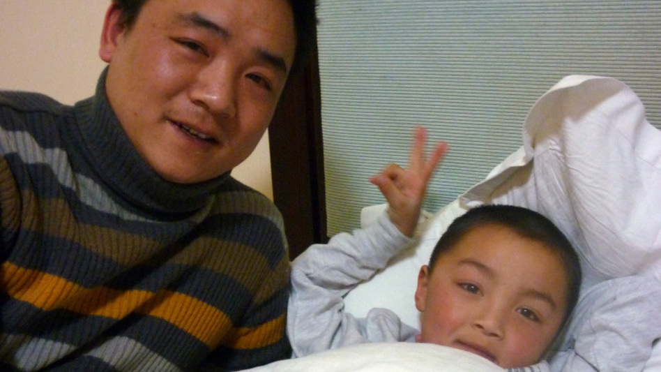 Peng Gaofeng used social media to track down his son, Xinle, who was abducted three  years ago outside his home. (Louisa Lim/NPR)