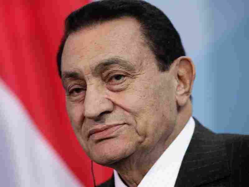 Egyption President Hosni Mubarak speaks to the media following talks with German Chancellor Angela Merkel. Mubarak is expected to give in to demands of protesters in an address to Egypt tonight.